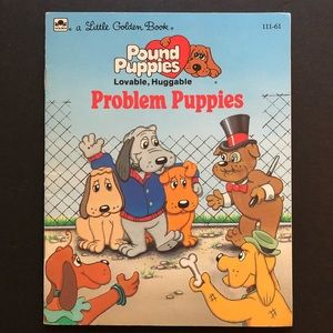 5/$25 VTG Pound Puppies Problem Puppies Kids Book